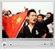 """5月19日 万人齐聚天安门<br>""""中国加油""""响彻长空"""