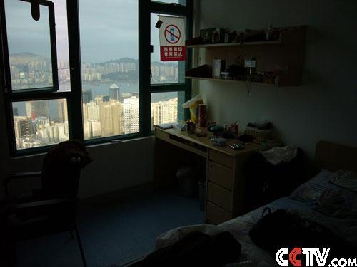 剧组宿舍窗外的北角