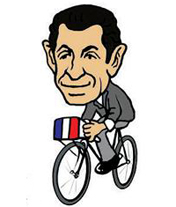 法国总统萨科齐爱骑<b><font color=brown>自行车</font></b>
