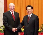 胡锦涛会见白俄罗斯总统