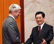 胡锦涛会见塞尔维亚总统