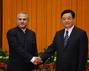 胡锦涛会见东帝汶总统