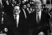 克林顿访问中国