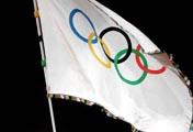 北京接过奥运五环旗
