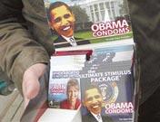 <strong>安全套版奥巴马</strong><br>纽约艺术家兜售奥巴马保险套<br><br>