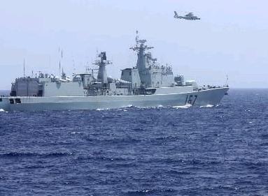 中国两批护航编队亚丁湾最后共同护航