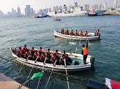 青岛封港<br>迎接海上阅兵